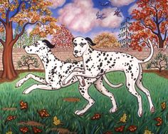 Dalmatians Two by Linda Mears
