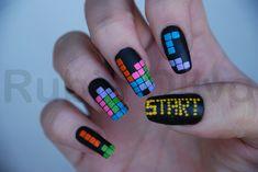 Tetris Nail Art