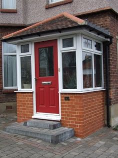 Outside door on porch Window Company, Windows And Doors, Front Entryway, Porch Steps, Porch Doors, External Doors, House With Porch, Doors, Porch Design