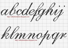 angela in cursive \ angela in cursive _ angela cursive Cross Stitch Alphabet Patterns, Alphabet Charts, Embroidery Alphabet, Letter Patterns, Alphabet Soup, Cross Stitch Numbers, Cross Stitch Letters, Beaded Cross Stitch, Cross Stitch Embroidery