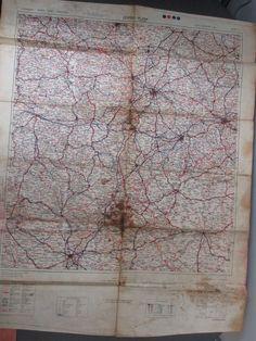 WW2 1944 War Department Issued German Leipzig-Plzen Pilsen Road Map 1st Edition.  #WW2 #WWII #worldwar2 #German #roadmap #war #road #map