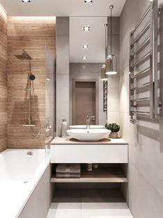 incredible small bathroom remodel ideas you must try 15 - censiblehome Bathroom Design Small, Bathroom Layout, Bathroom Interior Design, Modern Bathroom, Small Bathroom Renovations, Bath Design, Apartment Interior, Apartment Design, Home Interior