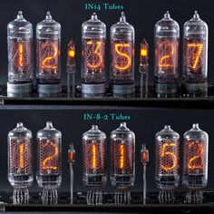 IN-14/IN-8-2 Nixie Tubes Cool Electronics, Electronics Projects, Steampunk Furniture, Nixie Tube, Clock Display, Cool Clocks, Retro Clock, Steampunk Accessories, Diy Clock