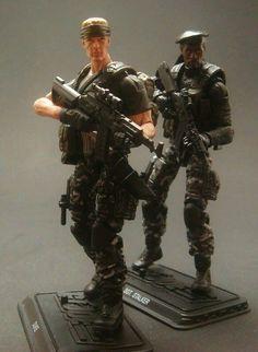 GI Joe POC Jungle Duke and Stalker Custom Figure two by Darksider80