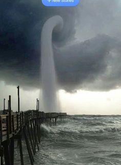 Her nine storm, Avalon pier kill devil hills Sept 3 2016