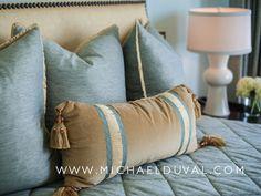 custom bedding & pillows  www.michaelduval.com