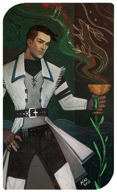 Commission for daximed. C: Devan Trevelyan Dragon Age Tarot Cards, Male Elf, Famous Portraits, Red Tattoos, Dragon Age Inquisition, Fantasy Characters, Fictional Characters, Character Inspiration, Character Ideas