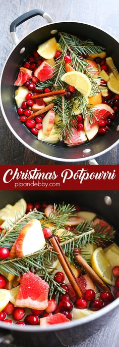 Homemade Christmas Potpourri | Make your home smell like Christmas with a few simple ingredients! This smells soooo good and it's so easy to prepare.