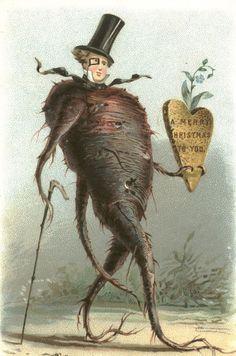 Dziwaczne kartki świąteczne z epoki wiktoriańskiej - Joe Monster