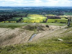 Dragon Hill  Dragon Hill is a natural chalk hill with an artificial flat-top (situated on the scarp slope of White Horse Hill), to which clings the legend that it was on its summit that Saint George slew the dragon. A bare patch of chalk upon which no grass will grow is purported to be where the dragon's blood spilled. It has been suggested as some sort of Iron Age ritual site associated with the nearby hill-figure.