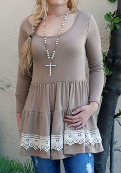 Rock'n Cowgirl Top with crochet detail $19.99