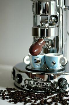 Elektra Chrome Coffee Machine. Made in Italy.