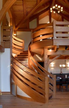 Timber Frame Stairs | New Energy Works
