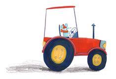 A little illustration for my son ❤️ mouse in a tractor #illustration #childrensbook #picturebook #art #artist #artwork #illustrator