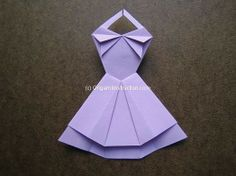 Paper Dress Tutorial | ... two pieces dress check out the origami trapeze dress instructions