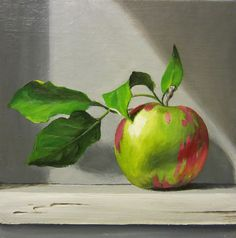 Windowlight - Apple  painting by Kellie Marian Hill