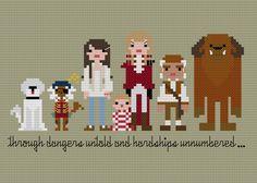 Pixel People - Labyrinth - PDF Cross Stitch PATTERN. $6.00, via Etsy.