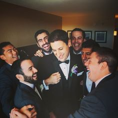 The Groom with his Boys. #handsomegroom #onhisweddingday #groomsmen #agroomsattire #nycweddings #ollistudio #nycweddingphotography #awardwinning #photojournalistic