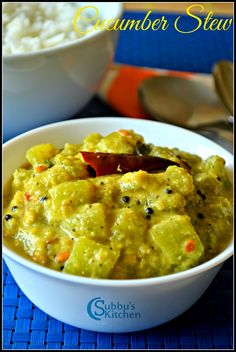 Cucumber Kootu is a stew made by cooking the Cucumber (Vellerikkai) in the coconut based gravy with freshly ground spices. This kootu can be used as a side for any sambar or vatha kuzhambu and also as a side for rotis. Paneer Recipes, Curry Recipes, Indian Food Recipes, Vegetarian Recipes, Cooking Recipes, Veg Recipes Of India, Jain Recipes, Kerala Recipes, Vegetarian Lunch