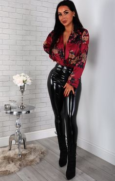 𐑎 Cheap Ladies Clothing UK - Сheap Womens Clothes Online Store Next Clothes, Clothes For Women, Cheap Designer Clothes, Black Wide Leg Trousers, Plunge Bodysuit, Shiny Leggings, Online Clothing Stores, Satin Fabric, Vinyls