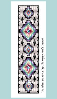 Bead Loom Pattern Rainbow Diamond by TheHappyBeadsCabinet