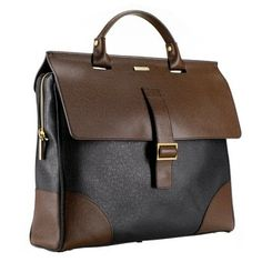 Milano Leather Briefcase. This smart looking briefcase boasts two interior pockets and comes with a removable cable case.