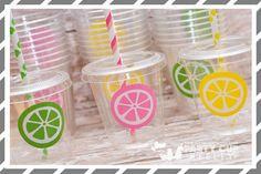 Lemonade Party-Kids Party Cups-Pink Lemonade Party Favor Cups-Souvenir Cup