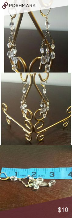 "VINTAGE  CRYSTAL CHANDELIER EARRINGS Chandelier earrings 3"" Bundle with other items and Save or make a offer... Jewelry Earrings"