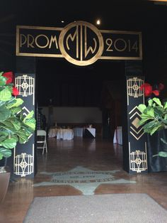 gatsby party FOIL COLUMNS - Google Search