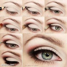 Cute Eye Makeup Tutorial  #tutorial #howto #stepbystep  #eyes  #smokeyeyes #makeup #eyeshadow #eyemakeup #eyeliner #mascara - bellashoot.com #cateeye