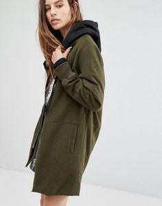 Religion Longline Wool Bomber Jacket