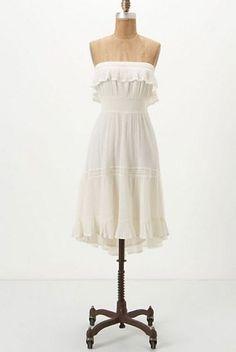 Anthropologie HD in Paris Dress Sunny Repose Strapless #Anthropologie #AsymmetricalHemBeachDressBlouson