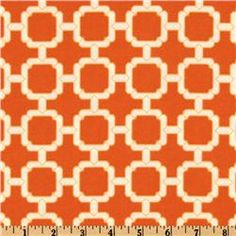 Swavelle/Mill Creek Indoor/Outdoor Hockley Mandarin - Discount Designer Fabric - Fabric.com