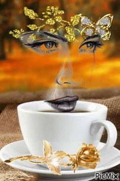 Animated Gif by Marjo Boerstra Coffee Gif, Coffee Images, I Love Coffee, My Coffee, Coffee Cups, Good Morning Coffee, Good Morning Good Night, Cool Pictures, Beautiful Pictures