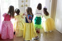 This is what I see...all her little friends dressed up
