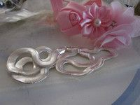 """Just updated Silvertone necklace 19""""long new flat chain effect £14.45"""