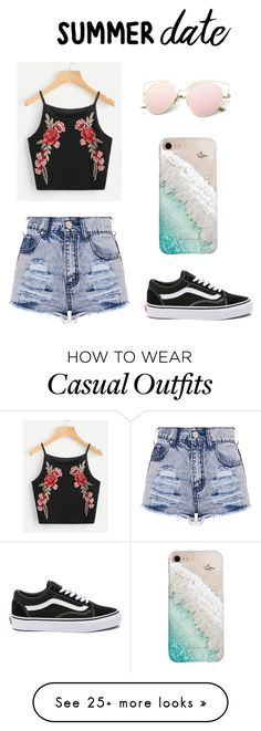 """""""summer date casual outfit"""" by vlogswithparis on Polyvore featuring Vans and Gray Malin"""