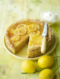 Serve this simple, delightfully tangy cake in thin slices – it's rather rich.