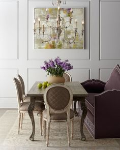 """Haute House """"Liday"""" Dining Table, """"Blanchett"""" Chairs, & """"Klein Napa' Banquette - Horchow"""