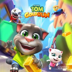 NEW Talking Tom Gold Run! Go for the gold!!!  xo,Talking Angela #TalkingAngela #LittleKitties #MyTalkingAngela #TomGoldRun #runner #builder #infinite #run #robber #gold #game #bestgame #bestapp #app #TalkingTom #TalkingGinger #TalkingHank