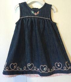 Gymboree Baby Girl's Jean Dress 12 18 Months | eBay