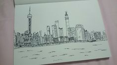 My sketching for shanghai view.