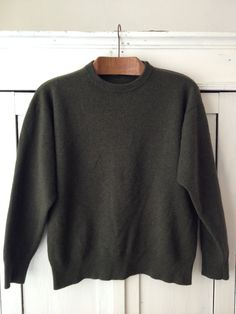 90s Burberry Wool Green/ Khaki Waist Sweater / by RosaPompon, $55.00