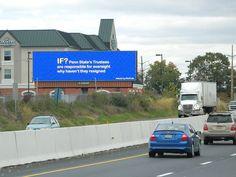 Penn State billboards