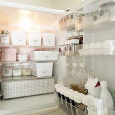 kana-cassieさんの、ダイソー,100均,モノトーン,整理整頓,冷蔵庫収納,冷蔵庫,ホワイト,ラベル,のお部屋写真