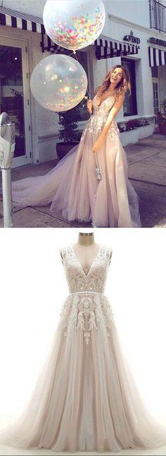 Open Back Wedding Dress,Colorful Wedding Dresses,Custom Bridal Dress,Champagne Wedding Gown