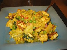 Dinner is Vegan: Coconut Curried Fried Rice with Tofu
