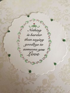 Handmade sympathy card by WeezaFactory55 on Etsy