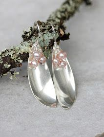 High Valued soldering jewelry diy reference Fork Jewelry, Soldering Jewelry, Jewelry Design Earrings, Wire Wrapped Jewelry, Beaded Jewelry, Silver Jewelry, Handmade Jewelry, Silver Earrings, Silverware Jewelry