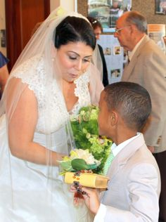 Tender moment with the Ring Bearer. <3